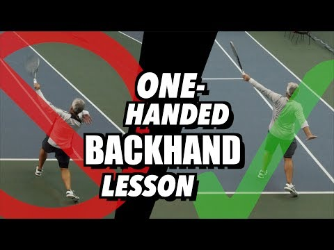 Tennis Lesson: One Handed Backhand Technique - Drills and Tips