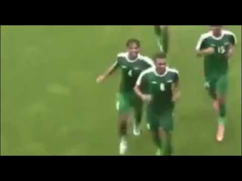 اهداف مباراة منتخب العراق الأولمبي 1-0 كالمار السويدي مباراة ودبة