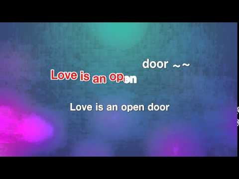 Love is an open door - Santino Fontana [karaoke]