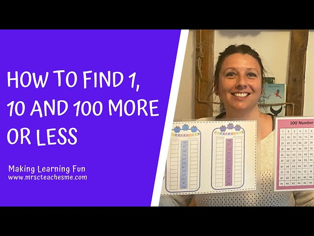 How to find 1, 10 and 100 more or less