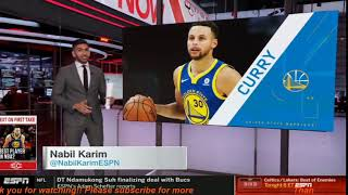 Stephen A Smith quotGRIEVANCESquot Andre Iguodala says Stephen Curry is the 2nd-best PG of all time