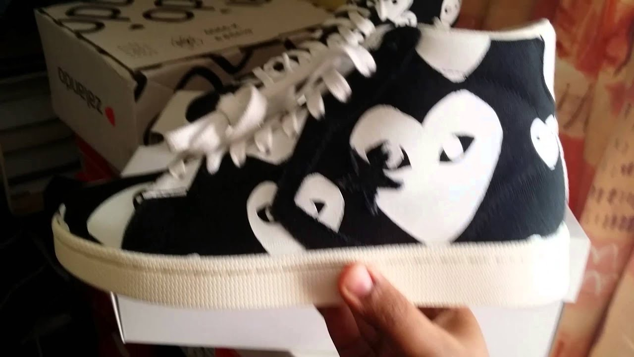 cdg x converse pro leather