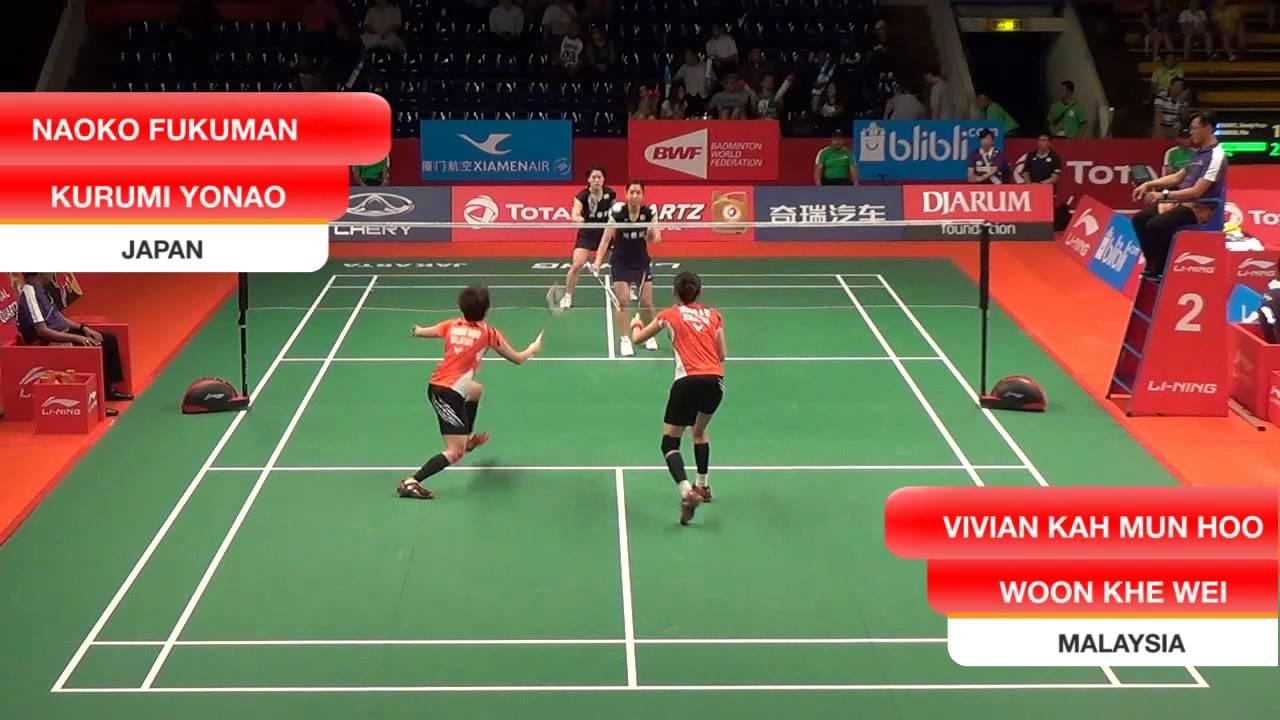 Vivian Kah Mun Hoo Woon Khe Wei MALAYSIA VS Naoko Fukuman