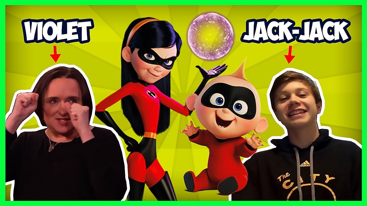 The Incredibles Voice Cast Funny Moments (Jack-Jack, Violet & Edna Mode)
