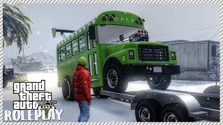 GTA 5 ROLEPLAY - Dangerous Drag Bus Out in The Snow | Ep. 168 Civ