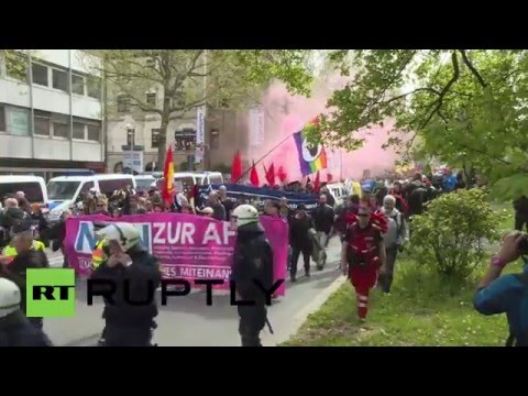 Germany: Stuttgart activists march against AfD congress following arrests