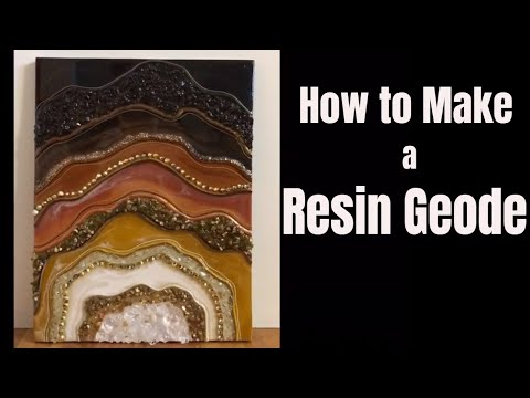 6. Chocolate Resin Geode DIY Tutorial / Part 2 of How to make a gorgeous Geode using barriers