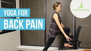 Office Yoga for Back Pain | Day 10 | Office Yoga Challenge