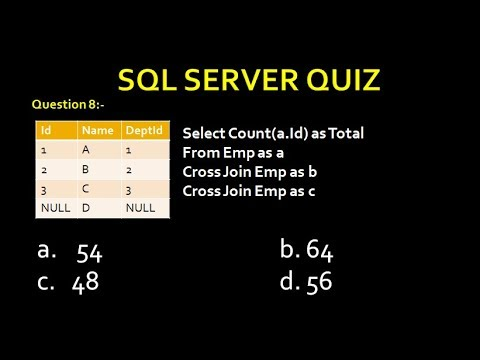 Sql Server Interview Quiz Part 5 - YouTube
