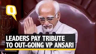 PM Modi, RS Leaders Hail Contributions of Outgoing VP Hamid Ansari | The Quint