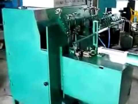 Fully automatic wire ring forming & welding machine
