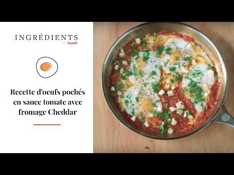 recette-d'oeufs-pochés-en-sauce-tomate-avec-fromage-cheddar-|-ingrédients-par-saputo