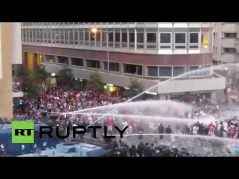 Lebanon: Water cannon blasted at 'You Stink' protesters in Beirut