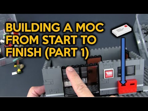 LEGO Post Office - Building A MOC From Start To Finish (Part 1)