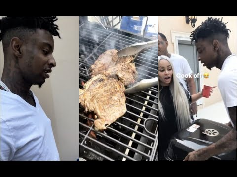 21 Savage Has A Cook Out With Amber Rose & Blac Chyna