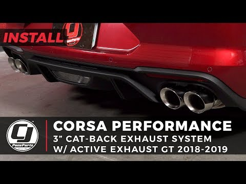 """- Mustang GT Install: Corsa """" Active Sport to Xtreme Cat-Back Exhaust System w/"""" Quad Tips"""