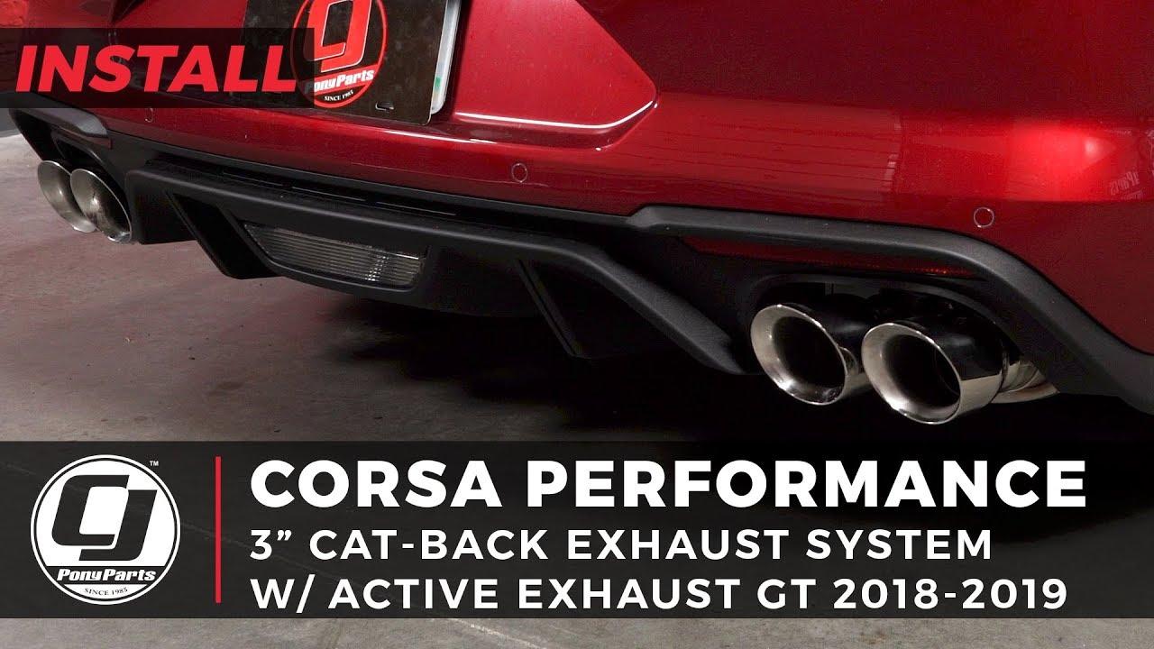 corsa 21001 mustang cat back exhaust