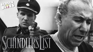 Rabbi Lewartow Escapes Execution | Schindler's List | SceneScreen