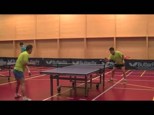 Wang Hao Tranning backhand basic