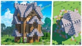 Стартовый дом в Майнкрафт - 2 этажа - Как построить красивый дом? Minecraft