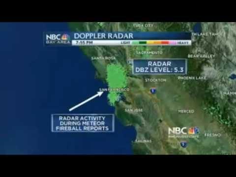 Fire in the Sky : Meteor streaks across San Francisco Bay Area California Feb 15 (Feb 16, 2013)