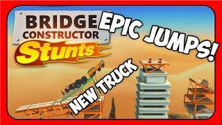 Bridge Constructor Stunts ➤ EPIC JUMPS! [Let's Play Bridge Constructor Stunts PC Gameplay]