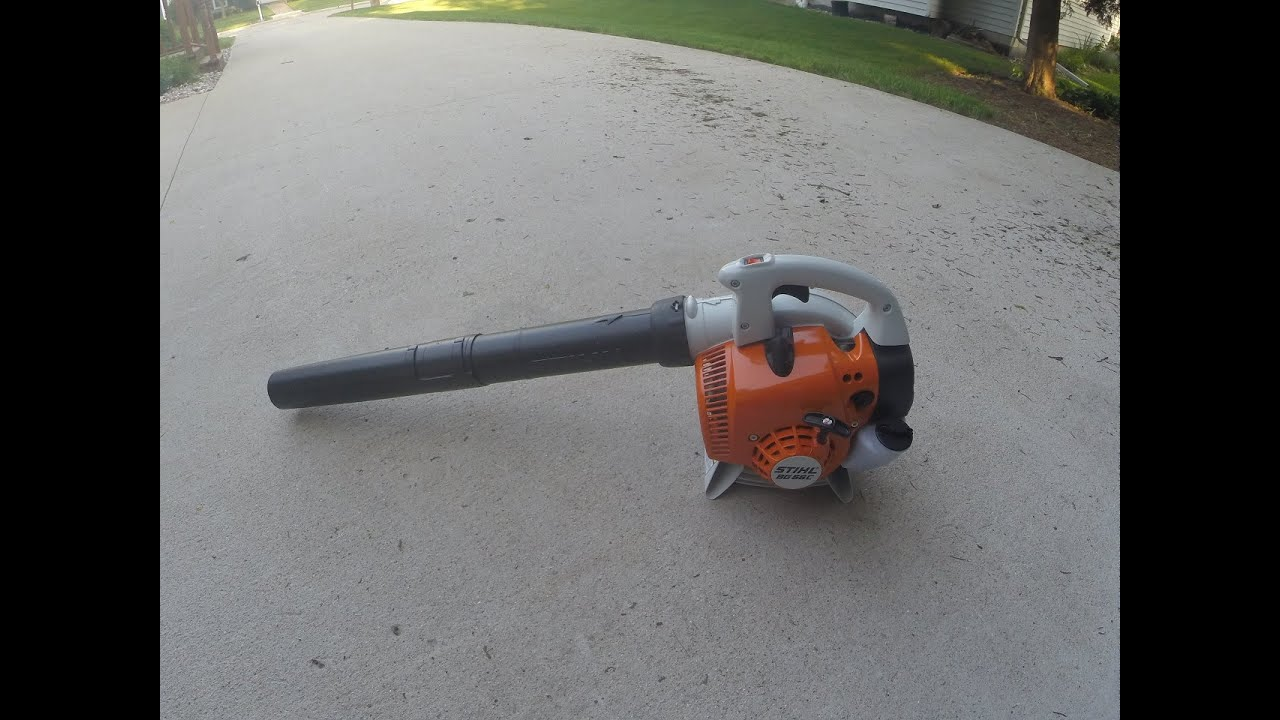 stihl bg 56 how to start