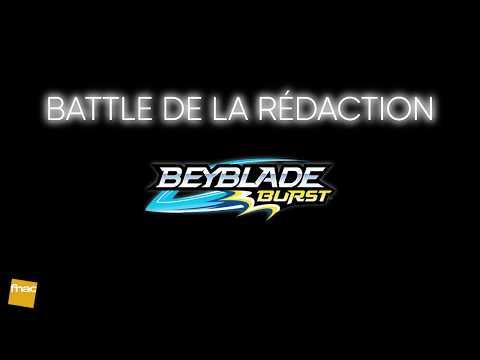 Battle de toupies Beyblades à la rédaction