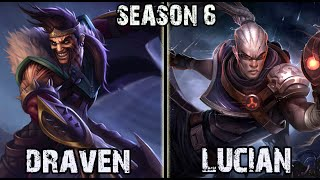 Best Draven NA vs Lucian ADC Ranked Challenger