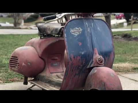 1955 Vespa Allstate make it back to the Original paint