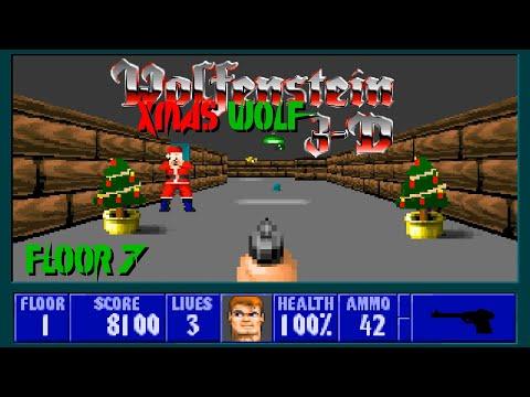 Wolfenstein 3D: Xmas Wolf - Floor 7 (100%) |