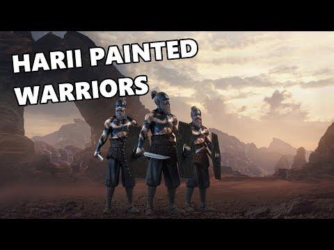 Total War ARENA - Harii Painted Warriors - Tier 6 Barbarian Premium Unit Review & Gameplay
