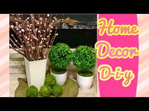 Diy Cherry blossom branches & decorative grass balls
