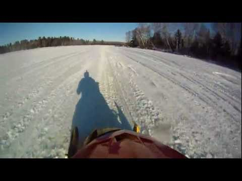 Snowmobile Cross Country Race Mercer WI