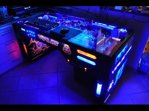 Project Virus Extreme Liquid Cooled Pc Desk