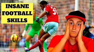 AMERICAN REACTS TO FOOTBALL SKILLS (crazy...)