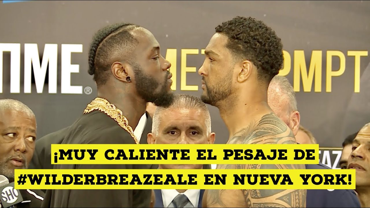 Download ¡Pesaje muy caliente entre Deontay Wilder y Dominic Breazeale! #WilderBreazeale