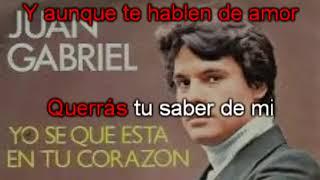 Aunque te enamores Juan Gabrie Karaoke