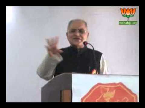 "Balbir Punj during "" Aakar:Mission Officers for India "" at Nagpur Apr 03, 2014"