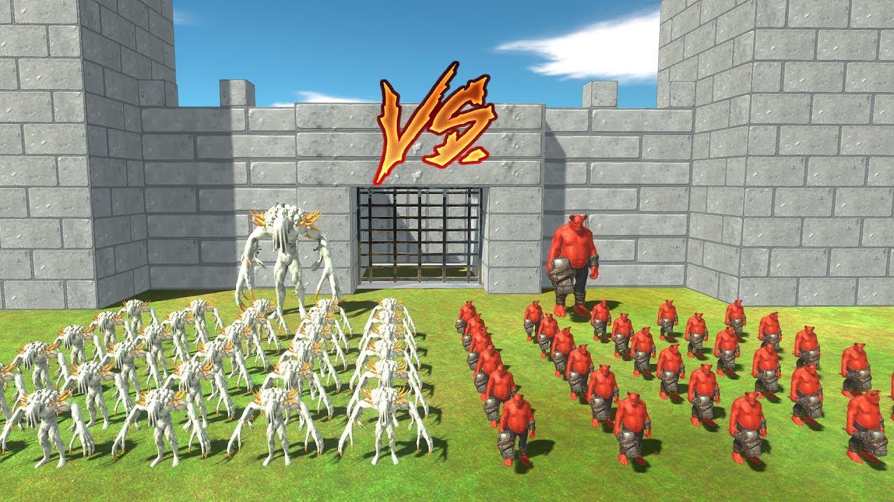 Download OGRE LORD  vs  SCOURGE - 1 vs 1,  5 vs 5, 10 vs 10,  30 vs 30 - Animal Revolt Battle Simulator