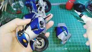 SUZUKI GSX1300R 模型 Hayabusa大部結合-開始!