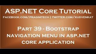Bootstrap navigation menu in asp net core application