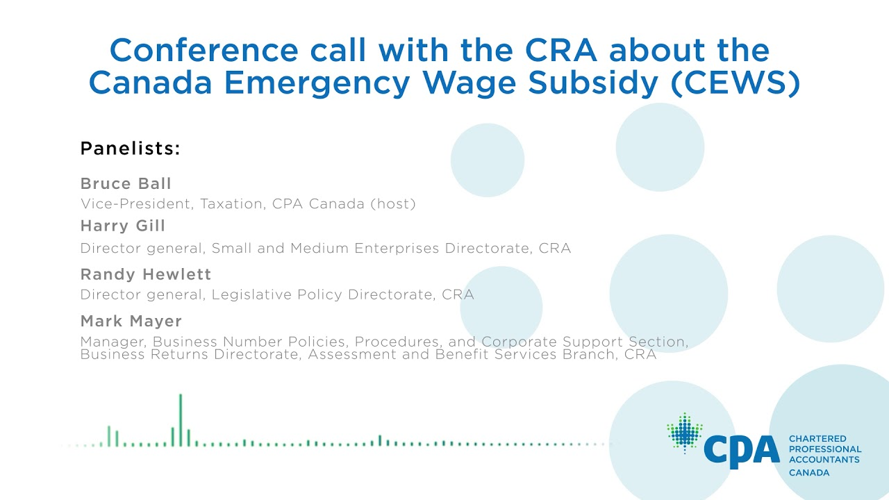 Cpa Canada Cra Conference Call On Cews Youtube