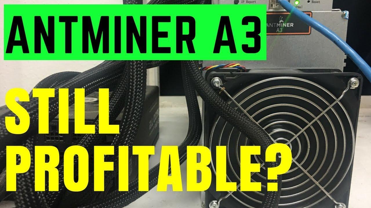 Bitmain Antminer A3 still profitable! Finally broke even!