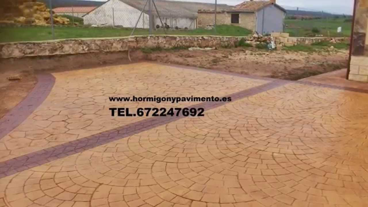 Hormigon impreso los cortijos 672247692 ciudad real youtube for Hormigon impreso youtube