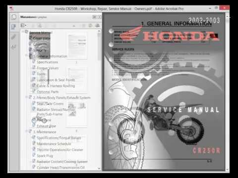 honda cr250r workshop repair service manual owners youtube rh youtube com honda cr250 service manual 2003 honda cr 250 service manual pdf