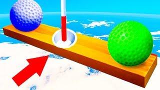 КТО СМОЖЕТ ЗАБИТЬ? ВЕСЕЛАЯ ЛУНКА С ПОДВОХОМ! ЭПИЧНО ПРОШЛИ САМУЮ СЛОЖНУЮ КАРТУ В ГОЛЬФ ИТ (Golf It)