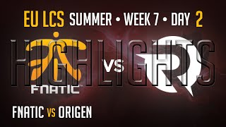 Fnatic vs Origen HIGHLIGHTS | Week 7 Day 2 EU LCS Summer Split 2015 S5 | FNC vs OG W7D2