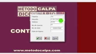 Metodo Calpa, Instalacion Software Diccionario Calpa