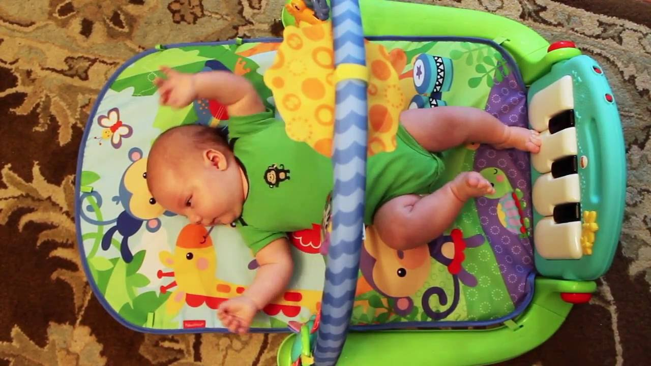 8 Mode Baby Gym Play Mat Lay /& Play Fitness Music And Lights Fun Piano Boy Girl